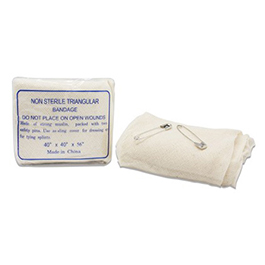 Triangular Bandage, Natural Woven Cotton Muslin Gauze Bandage, 40inch x 40inch x 56inch*LIMITED QUANTITY*