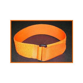 Cinch Strap, White Loop Buckle, Orange, 1 1/5 in X 18 in