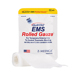 QuikClot EMS Rolled Gauze, 3inch x 48inch