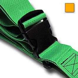 Strap, Polypropylene, Plastic Side Release Buckle, 2 Piece w/ Loop Lock, Yellow, 5 feet