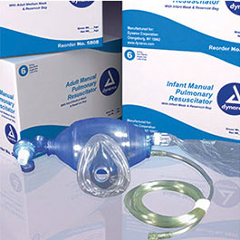 Resuscitator, MPR, Bag Reservoir, Disposable, Adult