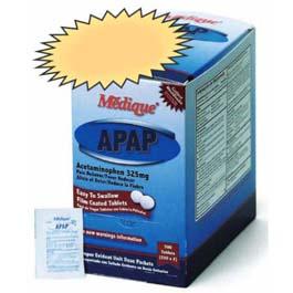 Medique APAP, Acetaminophen 325mg tablets, 2/pk 75pk/bx