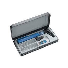 ENT Otoscope Pocket Exam Light Deluxe Set, incl Speculum and Various Tips, For Ear, Nose and Throat