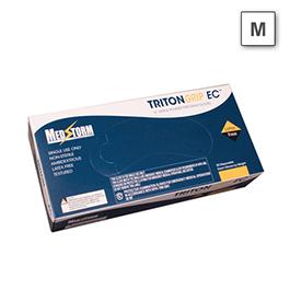 Curaplex Tritongrip EC Nitrile Gloves, Blue, MED *Discontinued*