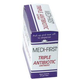 Medi-First Triple Antibiotic Ointment, 1/57gm packet, 144/bx
