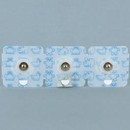 Huggable ECG Electrode, Perforated Clear Tape, Gel Pocket, Latex Free, Pediatric/Neonatal, 3/pk