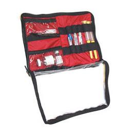 Med-Loc Medication Locker, 9inch  x 6 1/2inch, Black, Elastic Loops for Meds