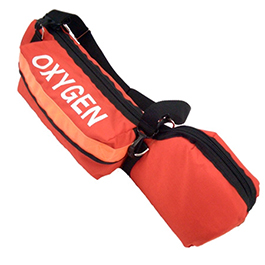 Portable Oxygen Cylinder Bag with Padded Head, Orange