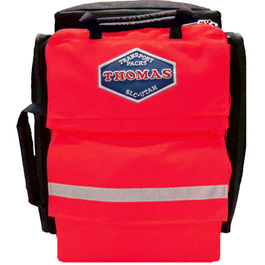 Thomas Transport ALS Ultra Pack, Red w/Clear IV Bags
