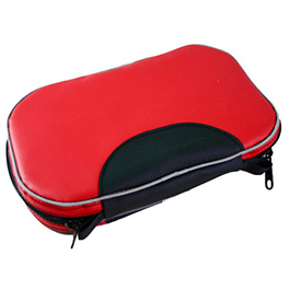 Med Pouch, Red UP Material, 10 in W x 7 in H x 2.25 in D, Lays flat when open
