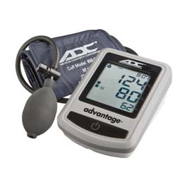 Advantage 6012N Upper Arm Semi-Auto Digital BP Monitor, Navy, Adult, Case
