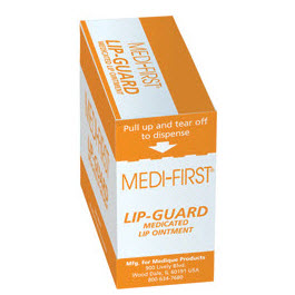 Medi-First Lip Guard, 1/57oz packets 20/bx