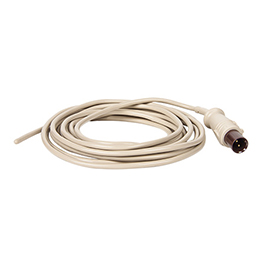 Esophageal/Rectal Temp Probe, 2-Pin Plug, 12 Fr, 10 Foot Lead, for MRx, MP2, Adult/Pediatric