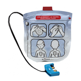 Defib Pads, Pediatric (less than 8 yrs), for use with Defibtech Lifeline VIEW/PRO/ECG AED 1pr/set
