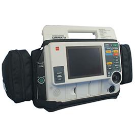 Curaplex Defibrillator Case, Lifepak 12, Black