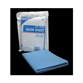 Burn Sheet, Sterile, SMS Blue, 60inch x 90inch