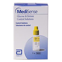 MediSense Glucose and Ketone Control Solution, MID Level *Limited Quantity*