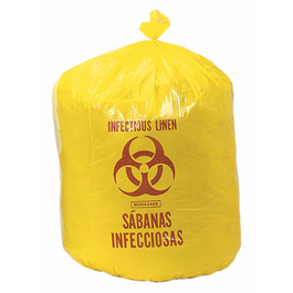 Bio-Hazard Yellow Liner, Infectious Linen, 45 Gallon