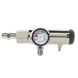 286MB Click Style Oxygen Regulator, CGA540, 0-25LPM, 2 DISS