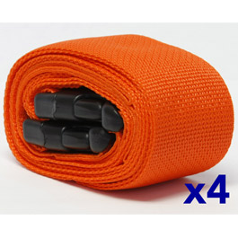 EZ Straps for EZ LIFT, 2 Buckle Bariatric, Loop Lock Ends, Orange *Discontinued*