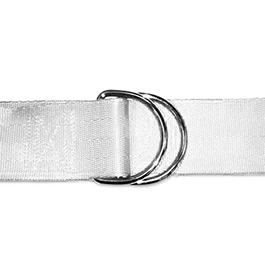 Straps, Nylon with D Rings, White, 1in x 60in, 5pk