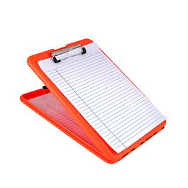 SlimMate Storage Clipboard, Letter/A4 Size, Plastic, Bright Orange