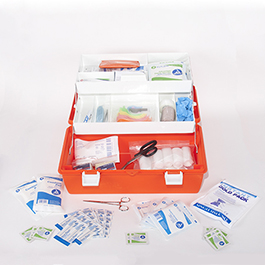 Curaplex Med-E-Pak 1 with Orange Flambeau Case