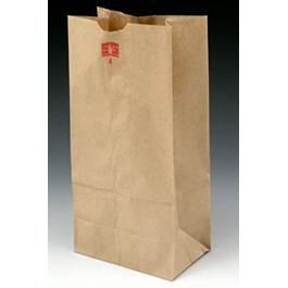 Kraft Paper Bag, 6inch x 3 5/8inch x 11 1/16inch, Brown, 35 LB Limit