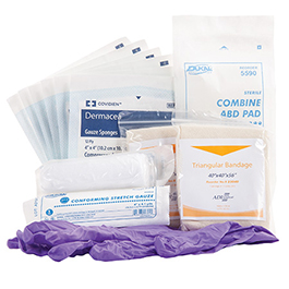 Curaplex MCI Patient Self Care Kit, Bagged