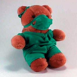 Plush Bear, 10inch Plush Doctor Bear In Scrubs