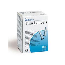 Medisense Thin Lancets, Single Use, 100/BX, 24BX/CS
