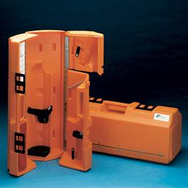 LSP Portable Resuscitator, Hard Case, Empty, 23-1/2inch H x 9inch W x 8inch L, Orange