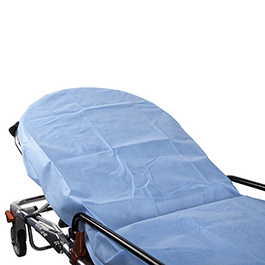 Stretcher Sheet, Fitted, with Elastic Ends, Light Blue, 72inch x 6inch x 30inch *Limited QTY*