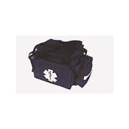 Trauma Bag, Small, Movable Divider, Main Body 8 x 10 x 11 ½ inch, Pockets 8 x 6 x 3inch, Navy