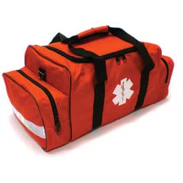 Basic BLS Kit, Orange Trauma Bag, Contains Tape, Shears, OP Airway Kit