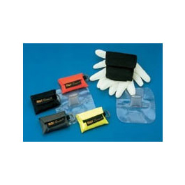 CPR Microholster CPR Barrier, with Microshield, Nitrile Gloves, Black Case