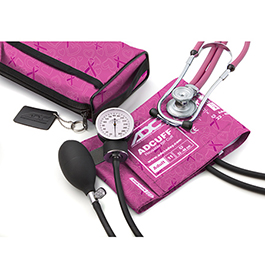 Pro's Combo II SR, Pocket Aneroid/Sprague Kit, Breast Cancer Awareness Pink, Adult, Size 23 to 40 cm