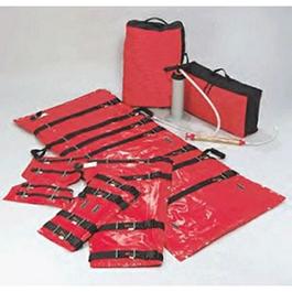 IMMOBILE-VAC Vacuum Mattress and Splint Set, Leg, Arm and Wrist/Ankle Splints, Mattress