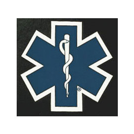 Decal, 18inch x 18inch, Die cut Star of Life