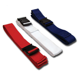 Gurney Straps, Plastic Side Release Buckle, 3 Pack, Red, White, & Blue