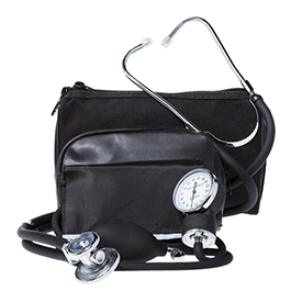 Curaplex BP Cuff/Stethoscope Combo Kit, Black