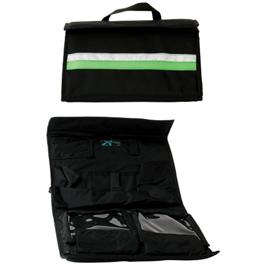 Intubation Case, 14-1/2inch x 8-1/2inch x 2inch, Black w/Green Stripe