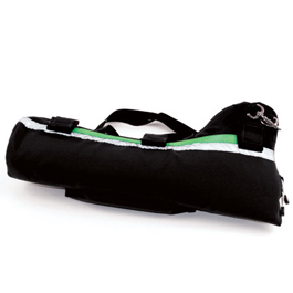 Oxygen Bottle Sleeve w/Pocket, No Contents, 22inch x 5inch, Black w/Green Stripe