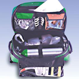 Airway-Pro Kit, Empty, 12inch x 9inch x 23inch, Green w/Black Reflective Strip