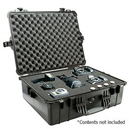 Pelican 1600 Case, 21.51in x 16.54in x 7.99in (54.6 x 42 x 20.3 cm) , Black w/Pick N Pluck Foam