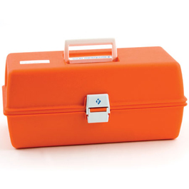 Flambeau Model 1772 Medical Box, 16 1/2inch L x 8 3/4inch W x 7 1/2inch D, Orange