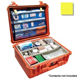 Pelican 1550 Oxygen Case, Yellow