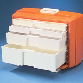 Flambeau Drug Box, 4-Drawer, 19 1/2inch L x 10 3/8inch W x 15inch D