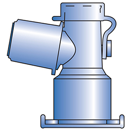 Standard Dual-Axis Swivel Adapter, Non-Sterile, Angled 15mm Termination