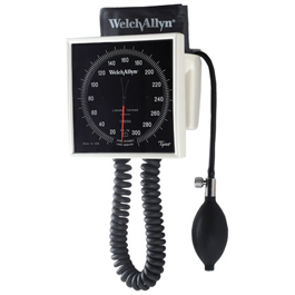 Tycos 767-Series Wall Aneroid w/One-Piece Adult Cuff and Built-In Storage Cuff